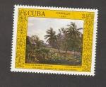 Sellos de America - Cuba -  Paisaje con malangas y cocoteros