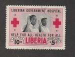 Sellos de Europa - Letonia -  Hospital del gobierno de Liberia