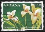 Sellos de America - Guyana -  Orquidea