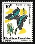 Sellos de Africa - Rwanda -  Mariposas