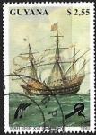 Sellos del Mundo : America : Guyana : Veleros - War Ship XVI Century