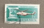 Sellos de Europa - Hungría -  Helicóptero