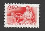 Sellos de Europa - Hungría -  Mujer conduciendo tractor
