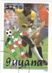 Sellos de America - Guyana -  COPA MUNDIAL DE FUTBOL ITALIA
