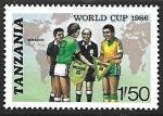 Sellos de Africa - Tanzania -  Copa del mundo de Mejico - futbol