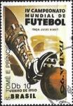 Sellos de Africa - Santo Tomé y Principe -  Copa del mundo de futbol