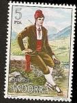 Sellos del Mundo : Europa : Andorra : Trajes Típicos populares de Andorra