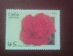 Sellos del Mundo : America : Cuba : Rosa Fragrant Cloud
