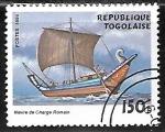 Sellos del Mundo : Africa : Togo : Veleros - Roman cargo boat