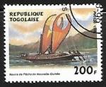 Sellos del Mundo : Africa : Togo : Veleros - botes de pesca de Nueva Guine