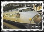 Sellos de Africa - Santo Tomé y Principe -  Ferrocarriles - Shinkansen de Japon