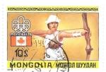Sellos de Asia - Mongolia -  tiro con arco