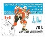 Sellos de Asia - Mongolia -  hockey hielo