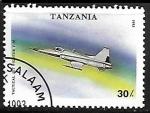 Sellos de Africa - Tanzania -  Aviones - F-5e