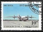 Sellos del Mundo : Asia : Uzbekistán : Aviones - Antonov AN-12 transport