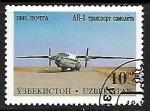 Sellos del Mundo : Asia : Uzbekistán : Aviones - Antonov AN-8 transport