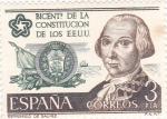 Sellos de Europa - España -  Bicentenario constitución EE.UU(39)