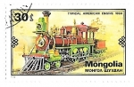 Sellos del Mundo : Asia : Mongolia :  locomotoras