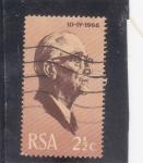 Sellos de Africa - Sudáfrica -  Pres. J. J. Fouche