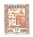 Sellos de Europa - Andorra -  arquitectura tradicional
