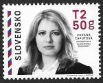 Sellos del Mundo : Europa : Eslovaquia : Susana Caputova, Presidenta de Eslovaquia  2019  0,65€