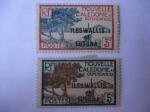 Sellos de Oceania - Wallis y Futuna -  Nouvelle caledone et  Dependences- Iles-Wallis et Futuna -Bahias de Manglares