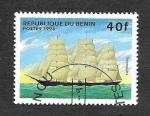 Sellos de Africa - Benin -  850 - Barcos Veleros