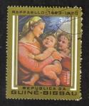 Sellos del Mundo : Africa : Guinea_Bissau : 500 aniversario del nacimiento de Rafael, Madonna de la Tenda