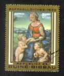 Sellos del Mundo : Africa : Guinea_Bissau : 500 aniversario del nacimiento de Raffaello, La Virgen y el Niño con San Juan Bautista