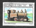 Sellos del Mundo : Africa : Chad :  828 - Locomotora