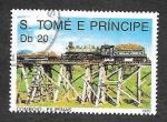 Sellos del Mundo : Africa : Santo_Tomé_y_Principe :  885 - Locomotora