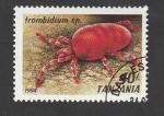 Sellos de Africa - Tanzania -  Trombidium sp.