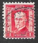 Sellos de Europa - Checoslovaquia -  131 - Tomáš Garrigue Masaryk