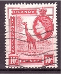 Sellos de Africa - Uganda -  serie- Paisajes Isabel II