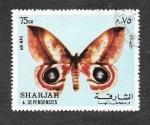 Sellos de Asia - Emiratos Árabes Unidos -  Mi1020A - Mariposa