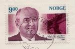 Sellos del Mundo : Europa : Noruega : Mijaíl Gorbachov - Premio Nobel de la Paz 1990