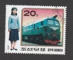 Sellos de Asia - Corea del norte -  Locomotora eléctrica