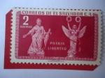 Sellos de America - El Salvador -  Patria Libertad -Serie:Motivos Locales - Tema:Monumentos.