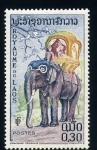 Sellos del Mundo : Asia : Laos : Trarnsporte en elefante