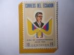 Sellos de America - Ecuador -  Gira de Confraternidad Julio 1962-Visita de Estado del Pres. Carlos Julio Arosemena Monroy a USA