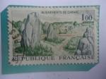 Sellos de Europa - Francia -  Alineamientos de carnac - Kermario - Alineamientos Neolíticos - Erigidos en el Neolítico.