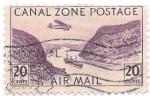 Sellos de America - Panamá -  Canal zone postage