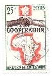 Sellos de Africa - Costa de Marfil -  cooperación