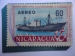Sellos de America - Nicaragua -  M.S. Costa Rica - Marina Mercante de Nicaragua.