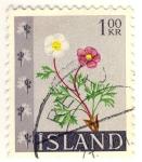 Sellos del Mundo : Europa : Islandia : flores