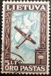 Sellos del Mundo : Europa : Lituania : LITUANIA-1934-Avioneta Lituánica y Caballero