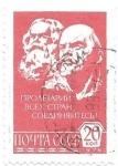 Sellos de Europa - Rusia -  Marx y Lenin