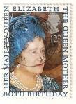 Sellos de Europa - Reino Unido -  80 cumpleaños de la Reina Madre Isabel.