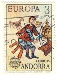 Sellos del Mundo : Europa : Andorra : Pintura Romanica S XII (Ordino)