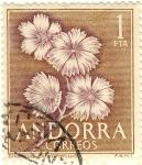 Sellos del Mundo : Europa : Andorra : Dianthus Capyophillus